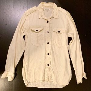 Isabel Marant ÉTOILE Linen Safari Camp Shirt 38